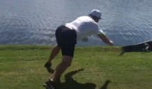 Jeremy Roenick Attempts to Tackle a Golf Course Alligator (Video)