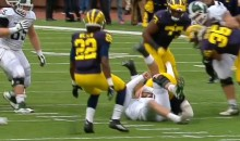 Michigan's Joe Bolden Ejected For Targeting Head of MSU Quarterback Connor Cook (Video)