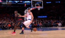 Knicks' Kristaps Porzingis Impresses With The Steal, Spin, and Slam (Video)