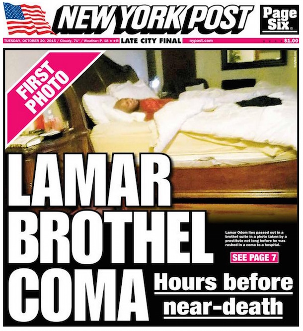 New York Post Publishes Cover Photo Of Lamar Odom In Coma