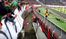 Russian Soccer Fan Makes One Of The Greatest Escapes Ever (Video)