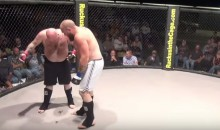 MMA Fighter Gets Choked Out, Poops All Over the Mat (Video)