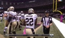 Mark Ingram High-Fives Ref After Touchdown (GIF)