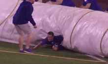Royals Grounds Crew Member Swallowed Up By Rain Tarp (Video)