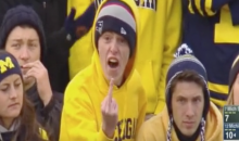 Michigan Fan Flips The Bird on Live TV (Video)