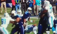 Marcus Mariota Was Hit Low On A Dirty Play By Olivier Vernon (Video)