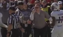 Northwestern Coach goes nuts on field, swears at players on TV (Video)