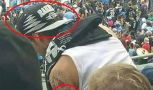 Confused Fan Has 49ers Tattoo, Raiders Gear (Pic)