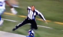 Ref's Hat Falls Off, Then He Gets Leveled During Giants' Pick-Six (Video)