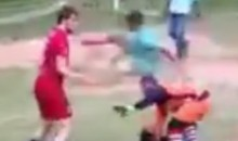 Soccer Bully Gets a Flying Kick to the Chest (Video)
