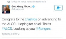 Texas Governor Jinxes Astros With Congratulatory Tweet