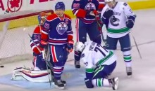 The Canucks' Jake Virtanen Scored with His Face. Ouch (Video)