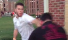 This Miami Fan Is Beating Up Every FSU Fan He Can Reach (Video)