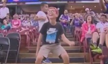 This Sacramento Fan Busts Loose on the Arena Steps (Video)