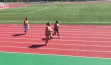 This Sumo Wrestler Foot Race Is Just What You Need (Video)