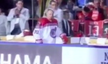 Vladimir Putin Spent His Birthday Scoring Seven Goals in a Hockey Game (Video)