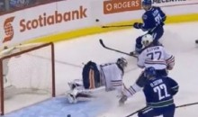 Canucks' Daniel Sedin Whiffs On Wide Open Net From Two Feet Away (Video + GIFs)