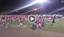 College FB Game Cancelled After Brawl Breaks Out; Trash Cans Used As Weapons (Video)