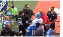 Upset Chargers Fan Swinging At Raiders Fan (Video)