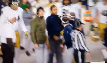Notre Dame's Brian Kelly Goes After Strength Coach On Sideline (Vid)