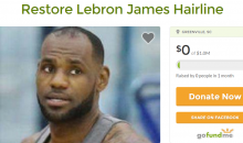 GoFundMe Page Created To Help Restore Lebron James' Hairline