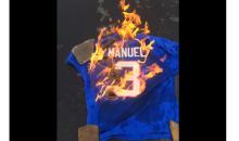 Bills Fan Is Upset, Starts Burning An EJ Manuel Jersey (Video)