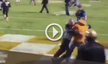 Tennessee Fan Tries To Rush The Field, Gets Tackled For A Safety. (Video)