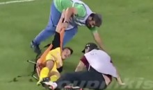 Medic Drops Stretcher While Carrying Injured Player During Greek Soccer Game (Video)