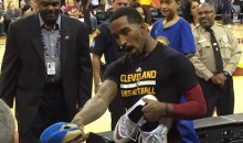 Little Kid Won't Take Off His Warriors Shirt, So JR Smith Gives His Game-Worn Sneakers to Somebody Else (Video + Pic)