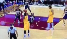 JR Smith Puts Paul George on Skates with Nasty Behind-the-Back Crossover (Video)