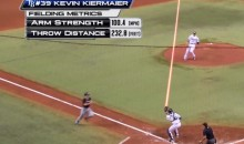 Incredible Kevin Kiermaier Throw Tops 100 MPH, Beats Runner by 10 Feet (Video)