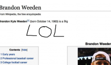 Brandon Weeden's Wikipedia Page Won't Shock You At All… (PIC)
