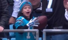 That Ball Cam Newton Chased Peppers For? It Went to a Boy Who Lost His Father (Video)