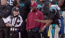 Watch a Mic'd Up Cam Newton Make Fun of This Baby-Faced Official (Video)