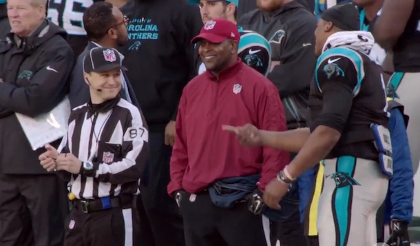 Cam Newton chirp referee