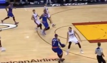 Carmelo Anthony Takes Six Steps, Doesn't Get Called For Traveling (Video)