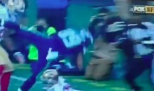 Doug Baldwin Leaps for the End Zone, Gets Blasted Off the Field (Video)