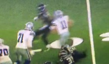 Cowboys OL La'el Collins Pancakes Two Seahawks Players in One Play (Video)