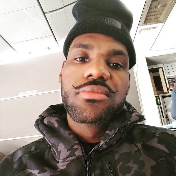 LeBron James Mustache