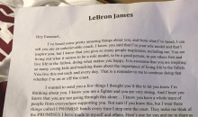 LeBron Sends a Letter of Support to a Fan with Muscular Dystrophy