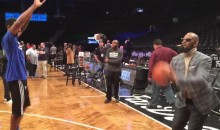 R. Kelly Hits 3-Pointer at Nets Game With Cigar in His Mouth (Video)