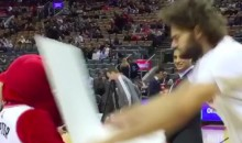 Robin Lopez Pummels Raptors Mascot After Being Ranked Below J. Lo (Video)