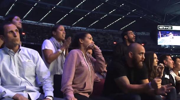 Ronda Rousey family react KO