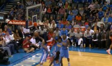 Russell Westbrook Throws Down a Nasty Putback Dunk over Denver (Video)