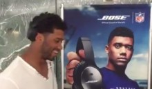 Russell Wilson Flips Airport Ad Around, Hiding J.J. Watt, and Showing Himself (Video)