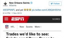 Saints Twitter Account Trolls ESPN Following Drew Brees 7 TD Performance