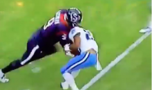 Texans Punter's Tackle Attempt Fails Miserably (Video)