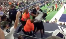Cowboys Fan Tackled then Arrested for Standing on Stadium Deck (Video)