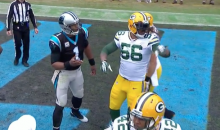 Julius Peppers Won't Let Cam Newton Have His Touchdown Ball (Video)