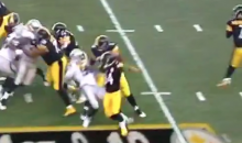 DeAngelo Williams Put A HUGE Block On Aldon Smith (Video)